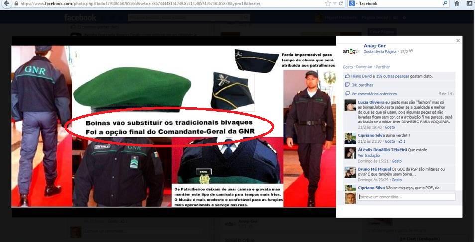 ...a 17FEV13 é publicada a foto que, via partilhas do facebook, vai desencadear a reacção dos pára-quedistas.