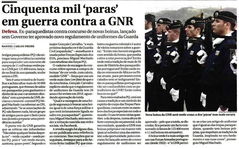 """O assunto chega à imprensa diária no """"Diário de Notícias"""" de 26FEV13."""