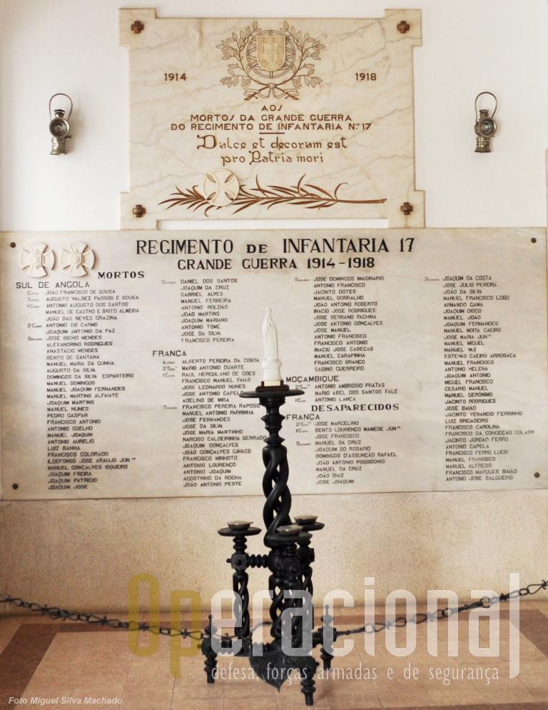 Hoje, o Regimento de Infantaria N.º 3, em Beja, mantém viva a memória dos militares do Regimento de Infantaria n.º 17 que em África e em França morreram em nome de Portugal.