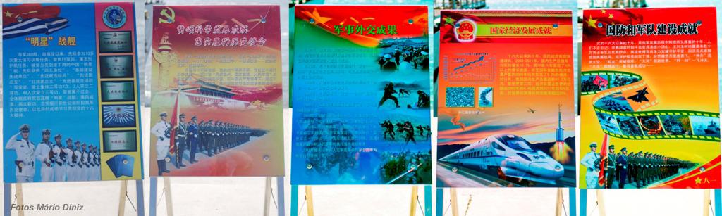 Estes painéis eram claramente dirigidos aos nacionais chineses que os visitavam e eram muitos.