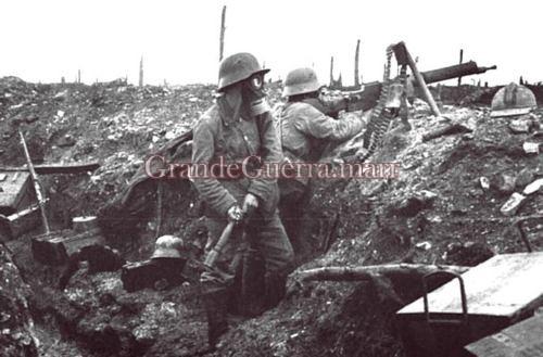 Trincheira alemã (Foto colecção particular).
