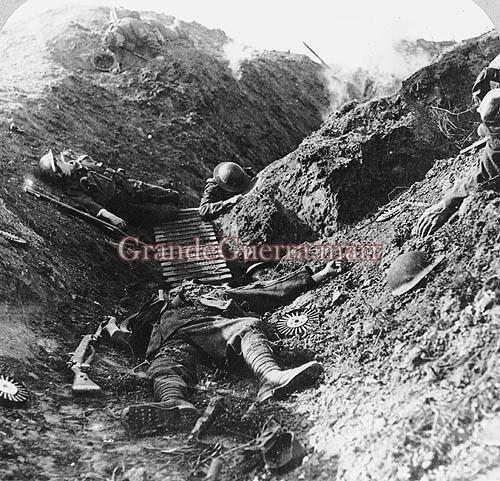 Trincheira aliada (Foto colecção particular).