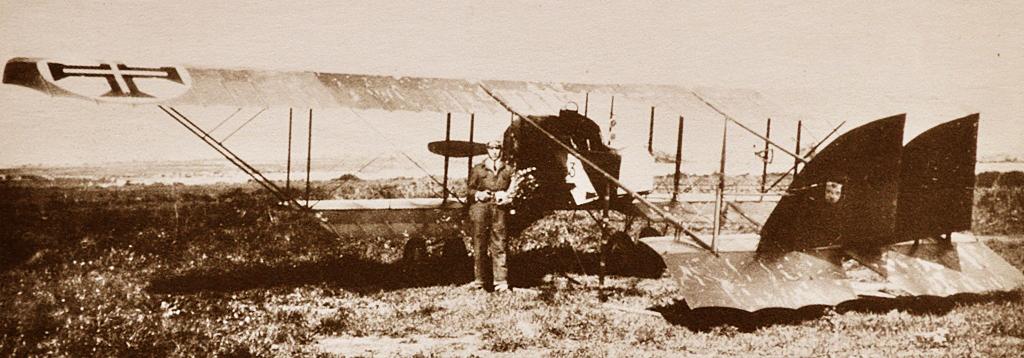 Caudron G III Esquadrilha Mista de Treino e Depósito - Tancos 1921 (Foto colecção particular).