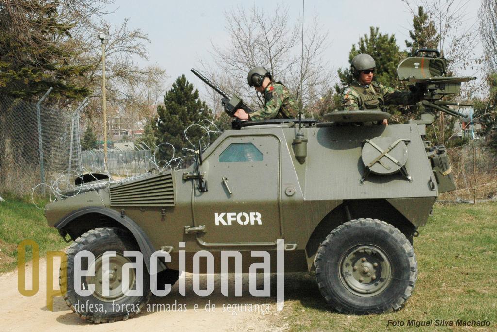 """Panhard M11 do 1.º BIPara equipada com o """"Milan"""" no Kosovo em 2007."""