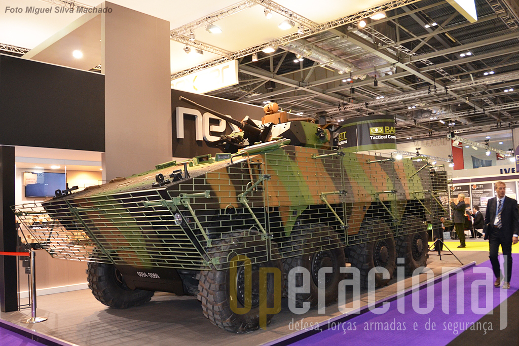"""O  """"Véhicule Blindé de Combat d'Infanterie"""" da Nexter que está testado em vários teatros de operações, como o Afeganistão, Líbano e Mali."""