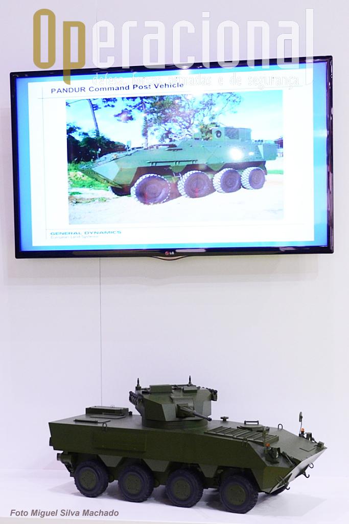 A Pandur 8x8 na DSEi muito, mas muito discreta. A continuação deste projecto e a sua promoção a nível mundial não parece ser uma prioridade para a general Dynamics.