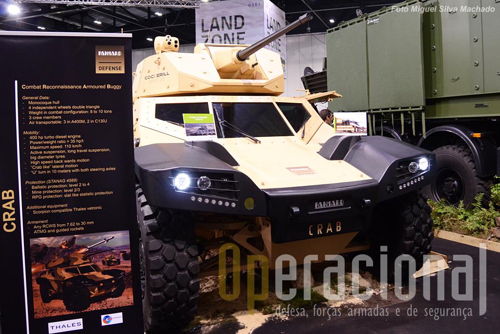 De aspecto futurista e nesta versão equipado com uma torre Cockerill CPWS canhão 25mm e metralhadora coaxial 7,62mm.