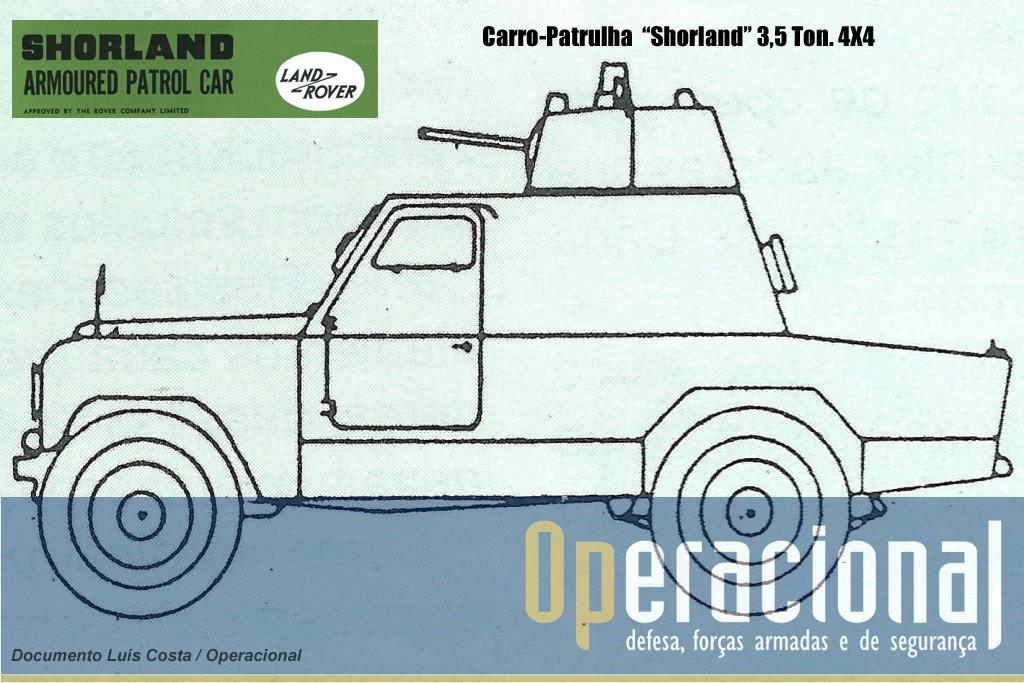 Perfil lateral Shorland Mk III 1974