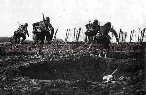 Soldados alemães ao ataque (Colecção particular)