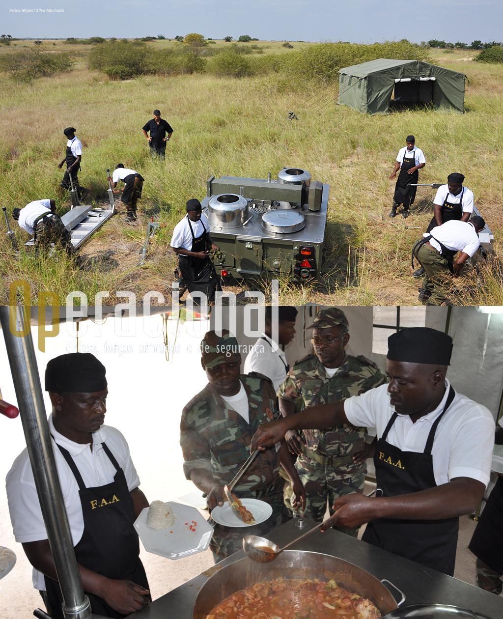 O Grupo está a fornecer cozinhas de campanha às Forças Armadas Angolanas, o que inclui como sempre a formação no local e com os equipamentos vendidos.