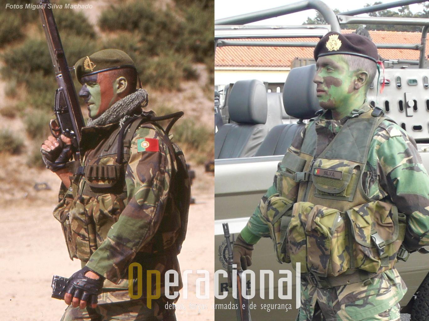Coletes concebidos pela Milícia em parceria com as Operações Especiais do Exército Português. Actualmente algumas outras unidades também o utilizam.