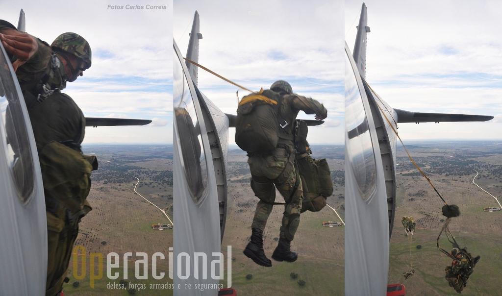 """A  capacidade de reacção imediata das Forças Armadas Portuguesas, assenta sobretudo na """"dupla"""", aeronaves de transporte táctico da Força Aérea e tropas pára-quedistas do Exército."""