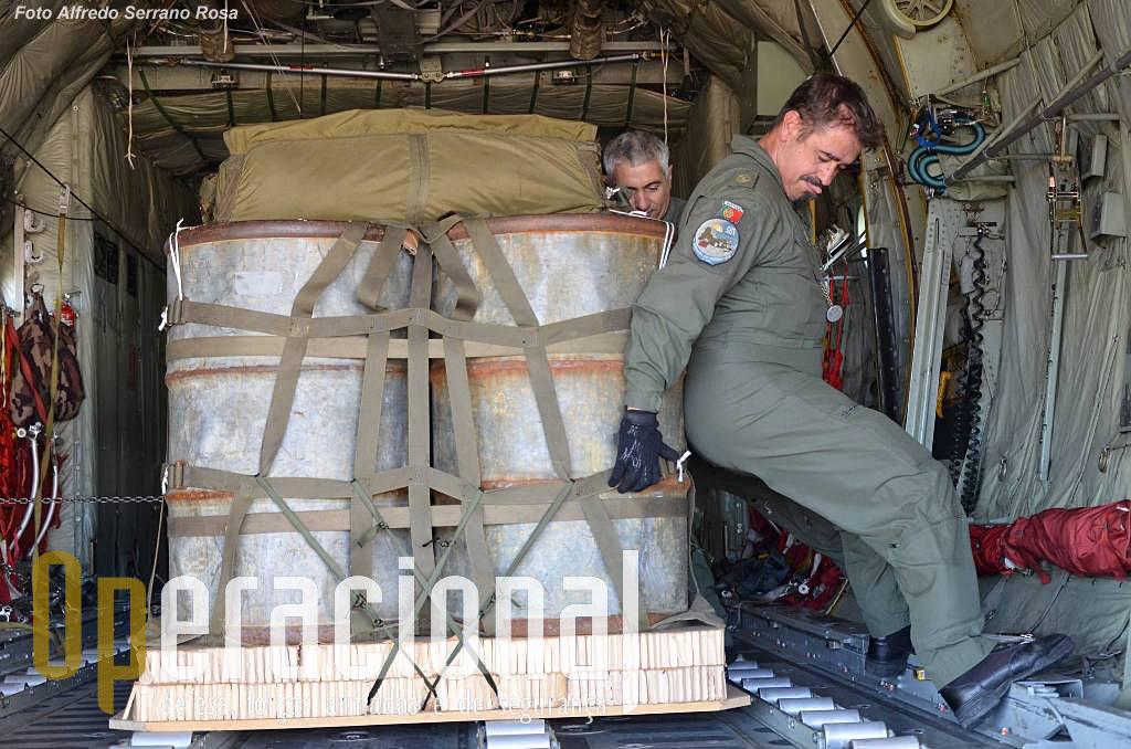 Nem só com as máquinas se carrega e configura um avião! Uma coisa é certa a carga tem que estar rigorosamente onde deve estar para o perfeito funcionamento de todo o equipamento com segurança.