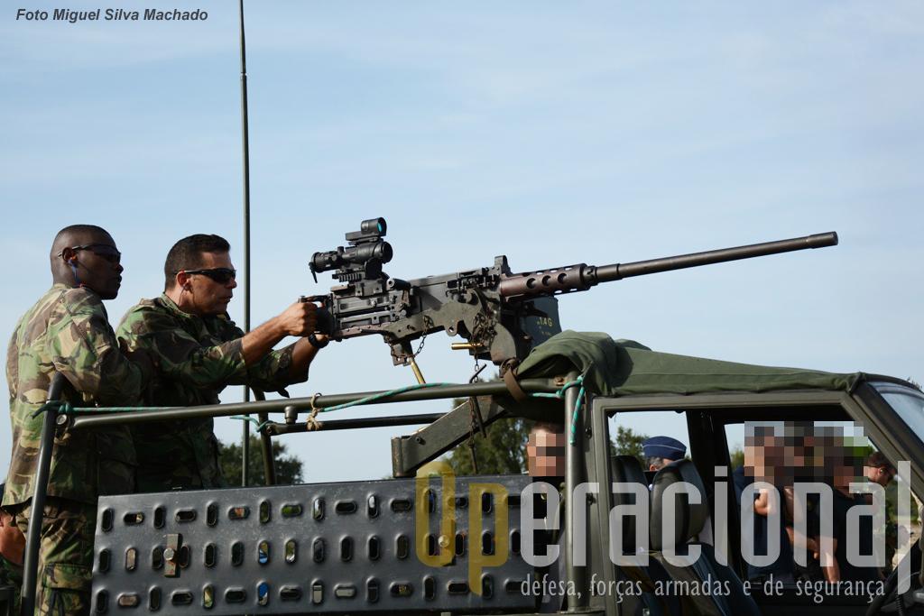 Uma Browning 12,7mm do Corpo de Fuzileiros foi disparada usando uma mira Trijicon ACOG.