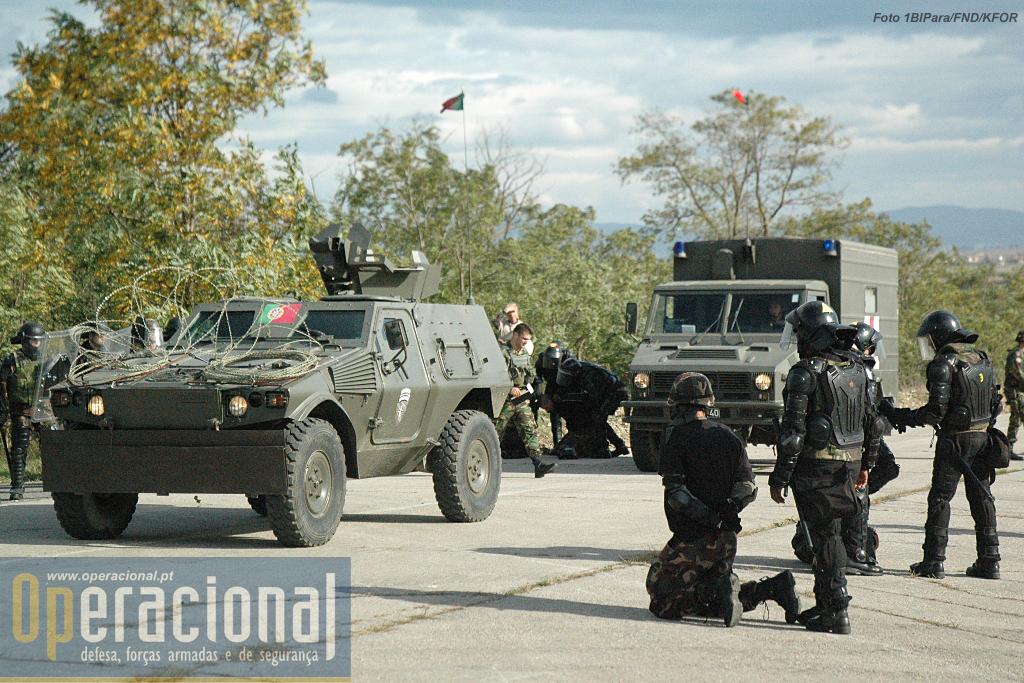 Juntamente com as Pandur II as Panhard M-11, também servem no contingente português no Kosovo.