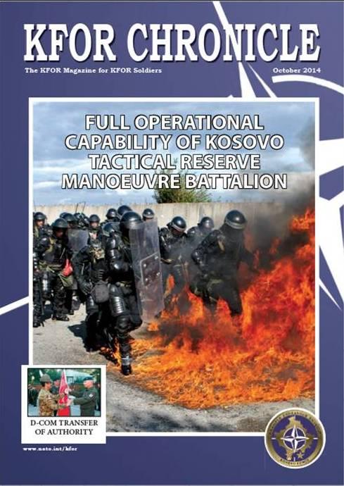 O último número da revista da Kosovo Force deu honras de capa a este exercício da KTM.