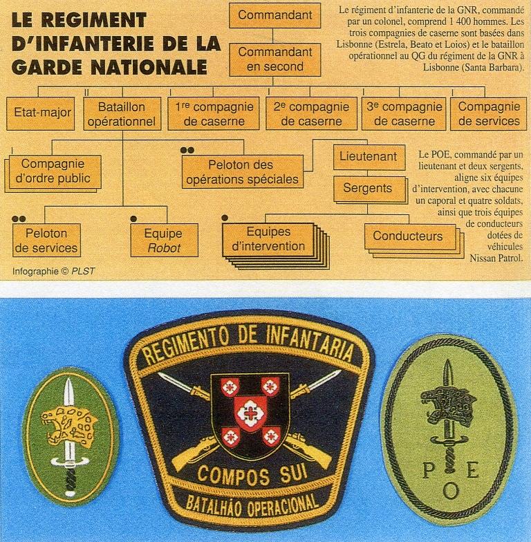 Organograma e simbologia publicada na edição francesa da RAIDS.