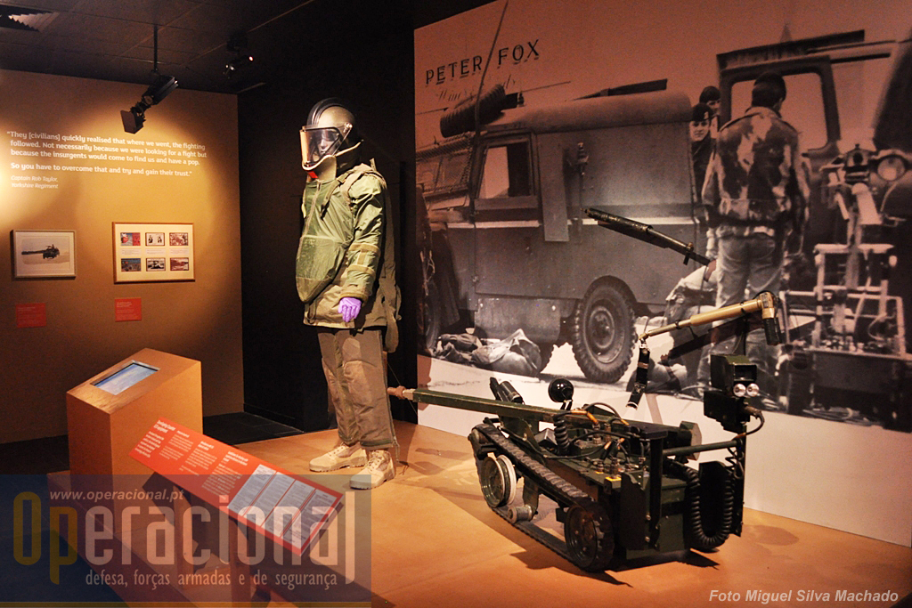 Os militares ingleses tem uma longa e continuada actividade operacional ligada aos artefactos explosivos.