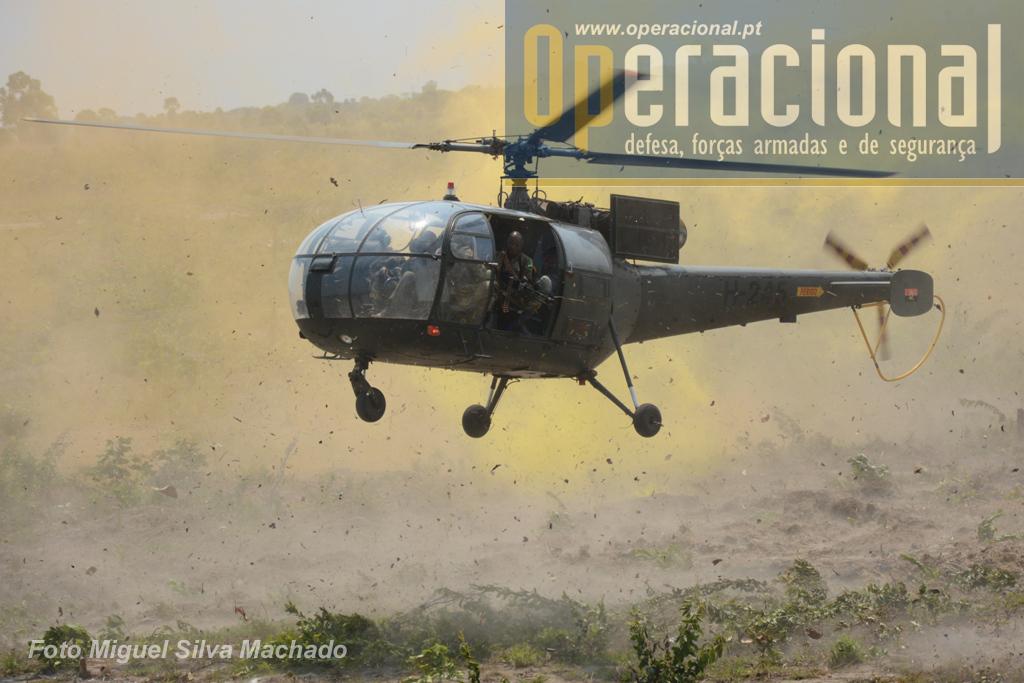 Neste exercício multinacional assistiu-se ao intenso uso de meios aéreos de asa rotativa, quase e sempre em condições muito exigentes para máquinas, tripulações e apoio.