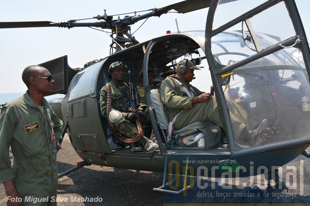 Alouette III (juntamente com os MI 17) foram helicópteros constantemente usados neste exercício, operando sempre a partir do aeroporto de Waku-Kungo, transformado numa pequena base de apoio, tendo para isso recebido alguns equipamentos móveis..