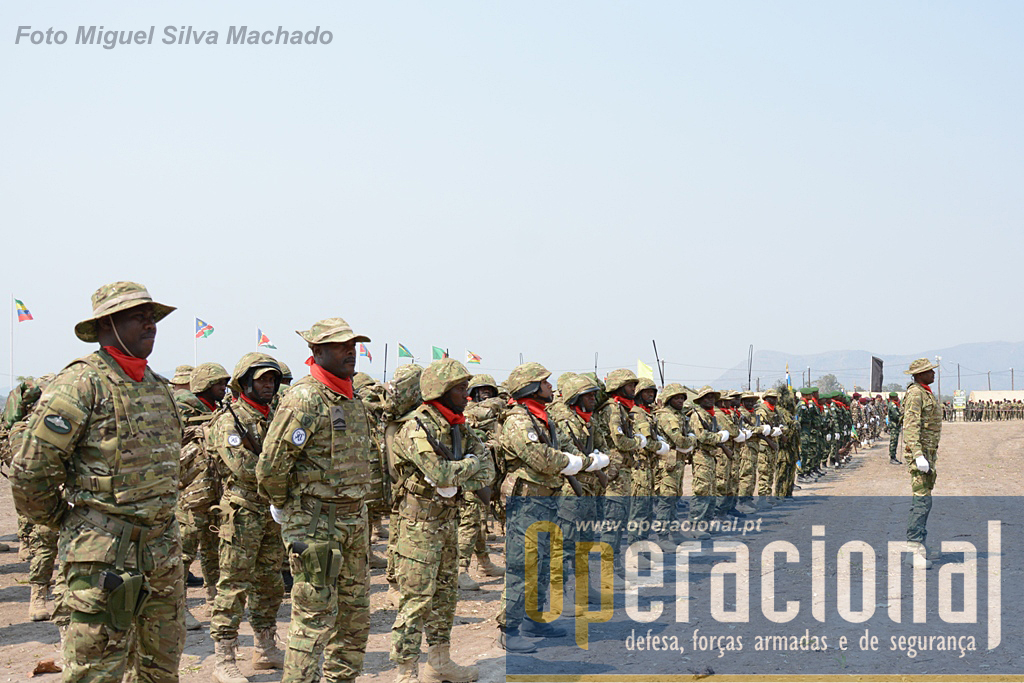 As principais sub-unidades operacionais da BRIFE estiveram presentes, nomeadamente os 2 batalhões de comandos e o de operações especiais.