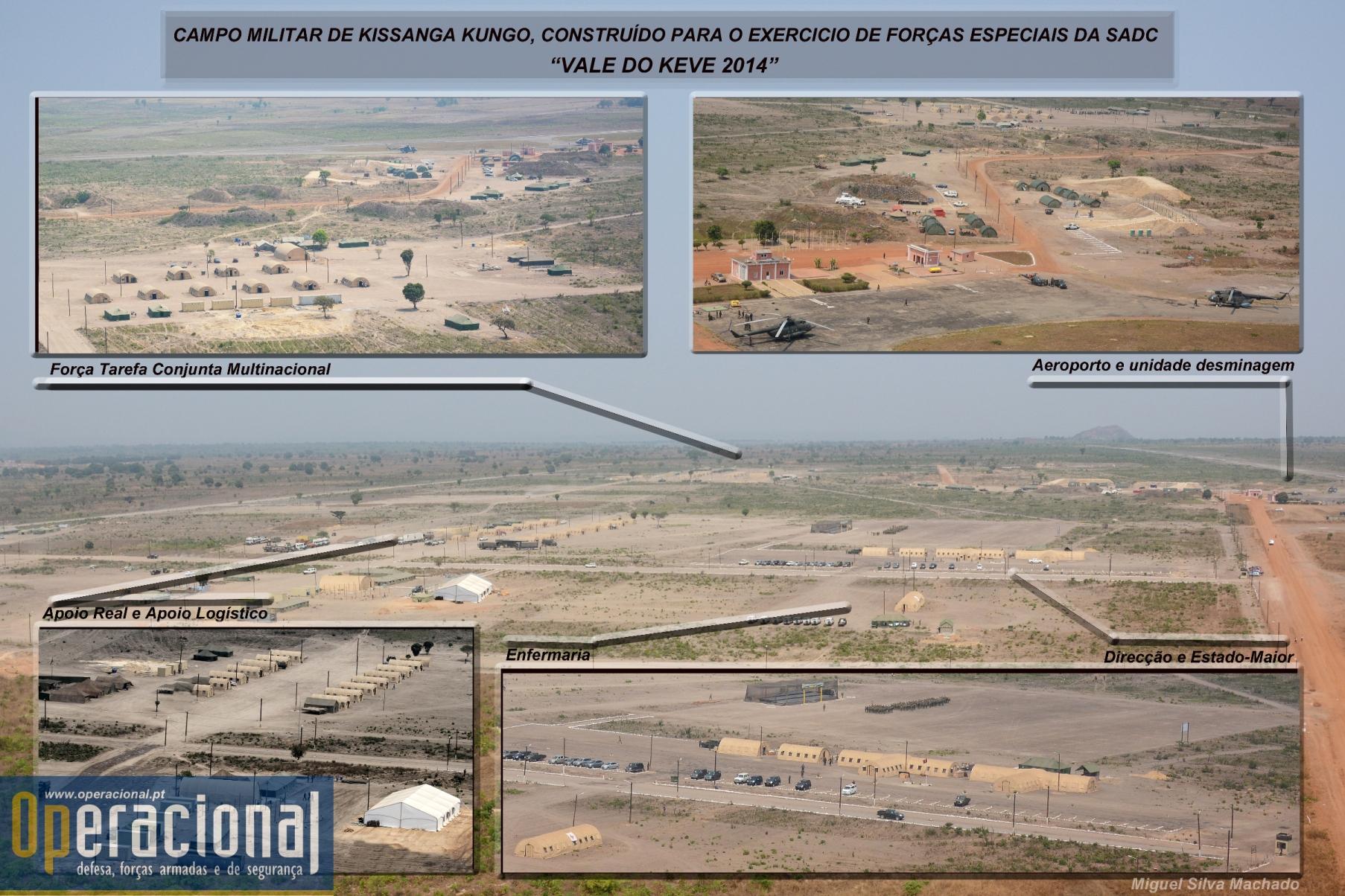 O Campo Militar fotografado no último dia do exercício. merece ser visto em detalhe!