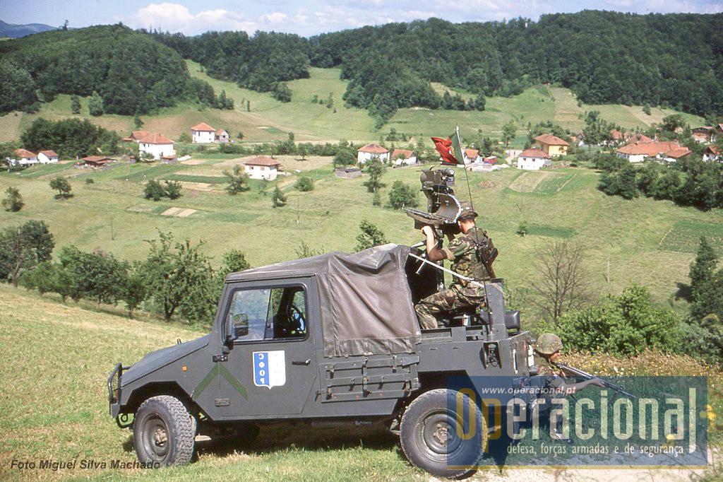 No decurso das patrulhas em certos locais exploravam-se possíveis sectores de tiro.
