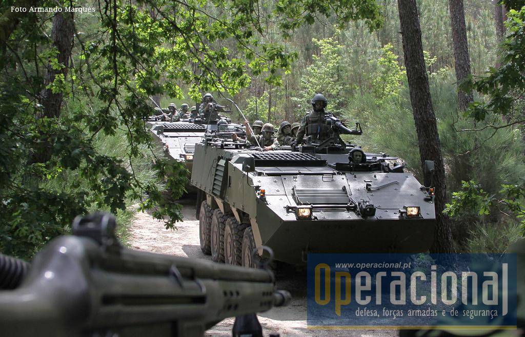 As Pandur II do Exército (aqui em foto de arquivo) estão neste momento na Lituânia, em número significativo, cumprindo assim o seu segundo empenhamento após o Kosovo, onde também se mantêm.