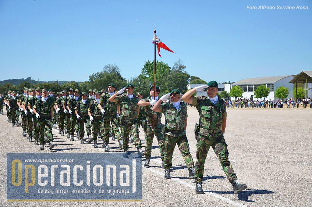 A Companhia de Formação Terrestre na qual os candidatos a pára-quedista iniciam a sua vida militar.