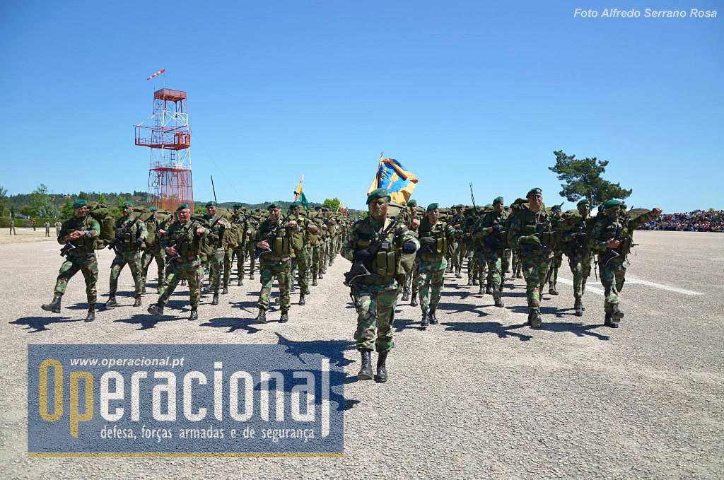O 2.º Batalhão de Infantaria Pára-quedista, unidade do Exército actualmente atribuída à componente terrestre da Força de Reacção imediata do EMGFA, sempre pronto para missões de contingência com um grau de prontidão muito elevado.