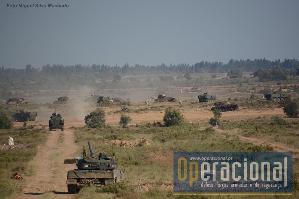 Depois de batidos por todas as armas de apoio disponíveis - artilharia, carros de combate, Pandur canhão e aviação - chegou a vez da infantaria conquistar os objectivos.