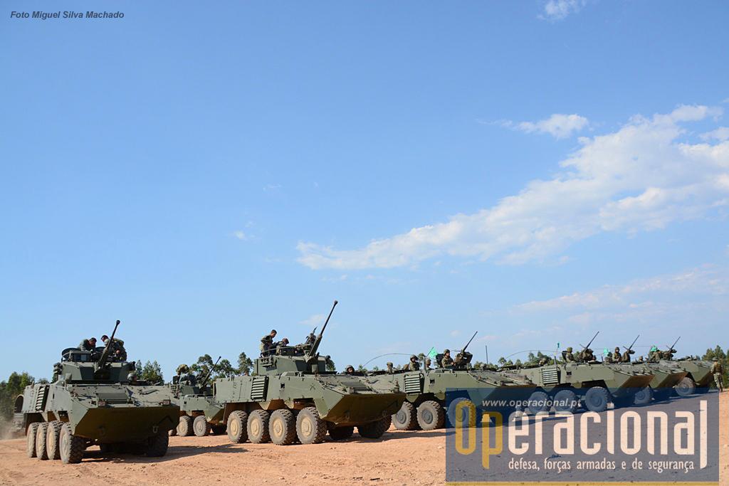 Na demonstração final participaram 2 Pelotões de Atiradores Mecanizados (R) com VBR Pandur II 8x8 TP 12,7 e VBR Pandur II 8x8 PCan 30mm.