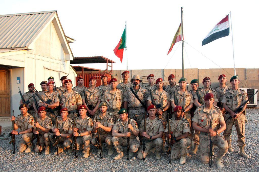A FND Portuguesa em Besmayha / Iraque, integra 30 militares. Temos ainda um oficial em Bagdade e outro no Kuwait.