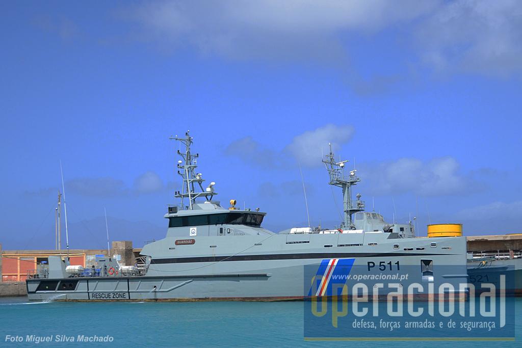 """O """"Guardião"""" continua a ser, desde Janeiro de 2012, a principal unidade naval de Cabo Verde."""