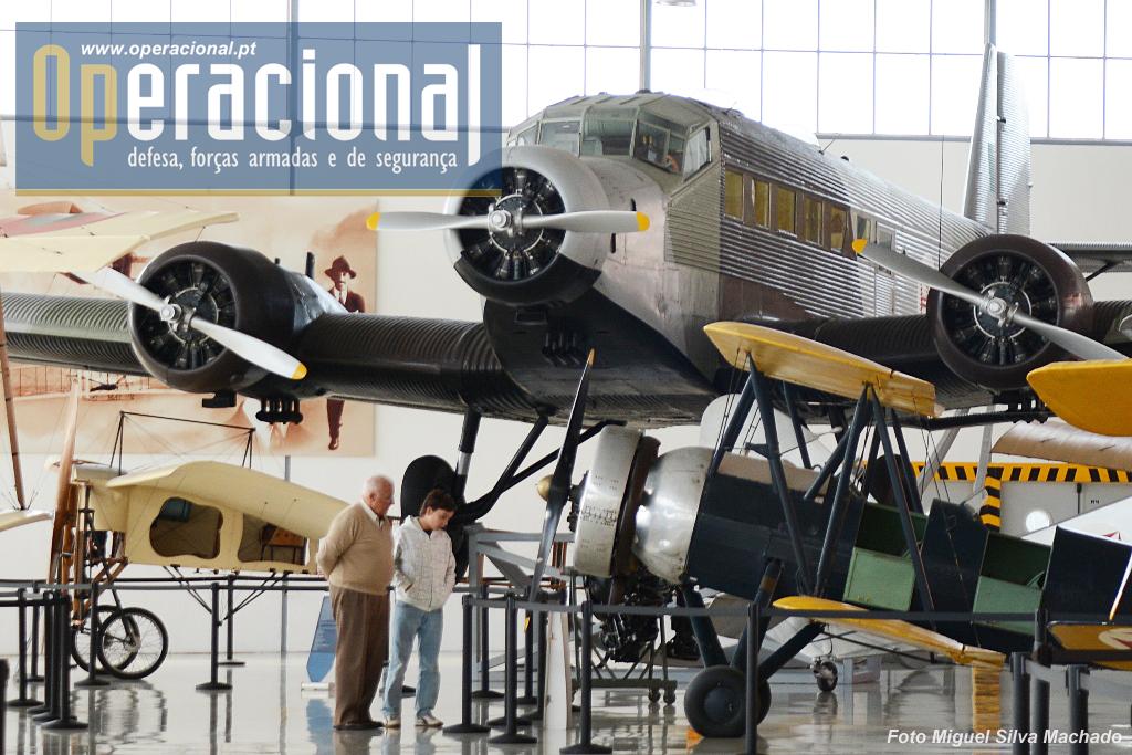 O JU-52 é uma das atracções do museu.