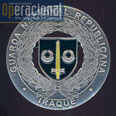 Insígnia criada para uso no uniforme dos militares da GNR que cumpriram uma ou mais missões no Iraque