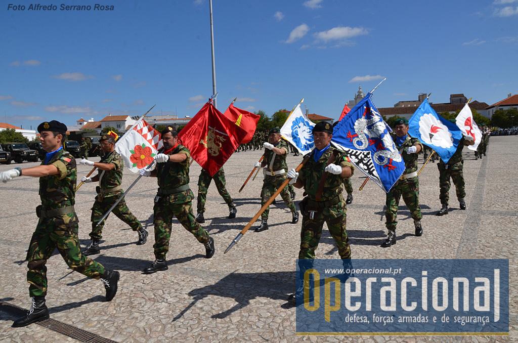 Os Guiões Heráldicos das unidades regimentais da BrigRR.