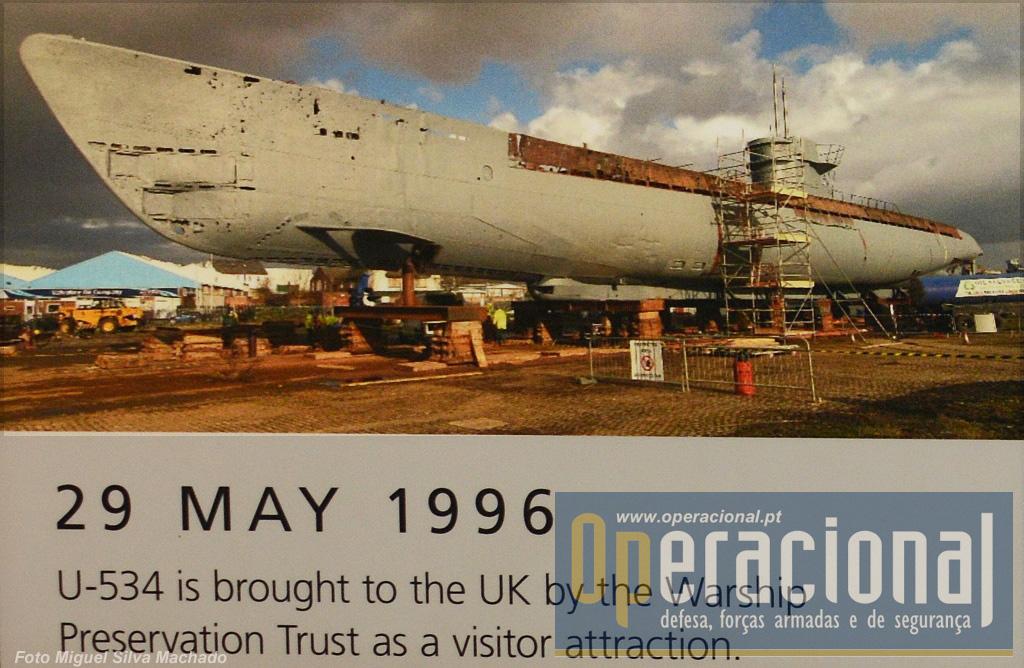 O U-534 ainda antes de ser adaptado à função museológica.