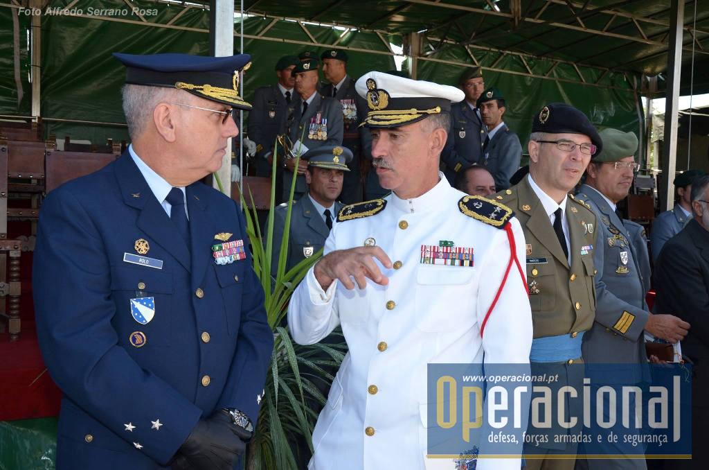 Tenente-General Piloto-Aviador Teixeira Rolo, Comandante Aéreo, o Contra-Almirante Sousa Pereira, Comandante do Corpo de Fuzileiros e oficiais do Exército Espanhol, estavam entre os convidados.