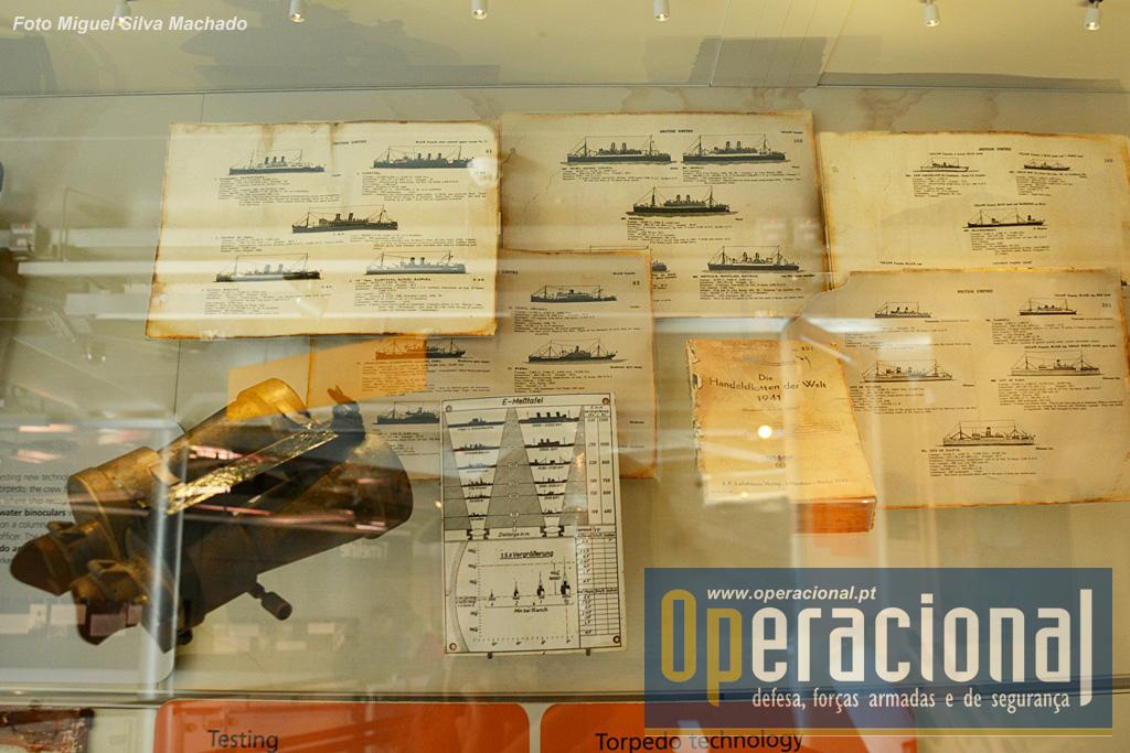 Por exemplo os manuais de identificação de navios que se poderiam encontrar no oceano.