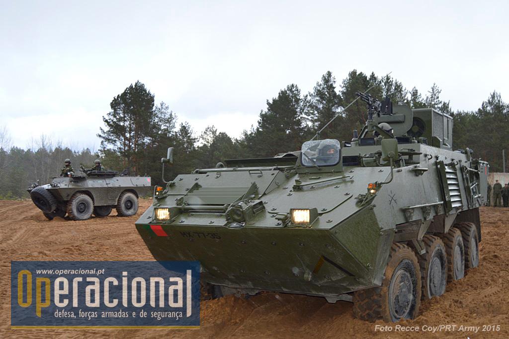 Na Lituânia o Exército Português empenhou uma Companhia de Reconhecimento, com 140 militares e 42 viaturas, das quais 23 Pandur II e 3 Chaimite.