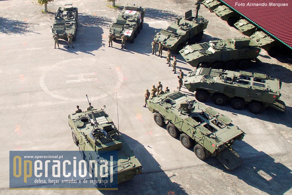 Em Outubro de 2015 o RC 6 é a única unidade do Exército que dispõe de todas as versões da Pandur II entregue ao Exército Português.