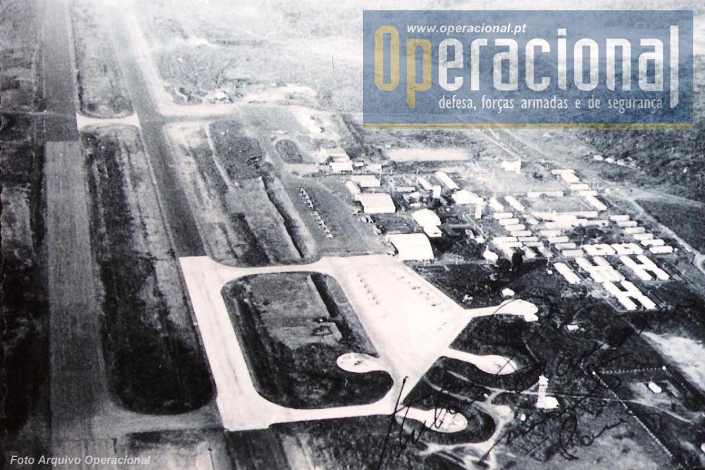A Base Aérea n.º 12 em Bissalanca/Bissau, em meados dos anos 60 do século XX.