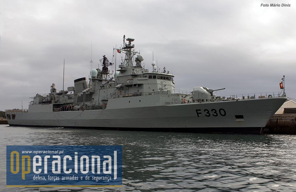A fragata Vasco da Gama da Marinha Portuguesa,