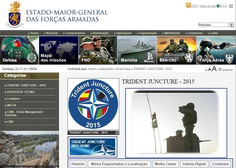O site do EMGFA na parte respeitante ao exercício, mesmo não sendo brilhante tinha a informação básica necessária e links para os sites NATO.