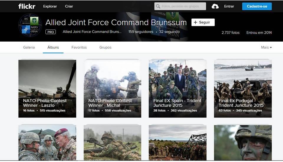 No Flickr do Allied Joint Force Command Brunssum, eram descarregadas as fotos dos Combat Camera Team.
