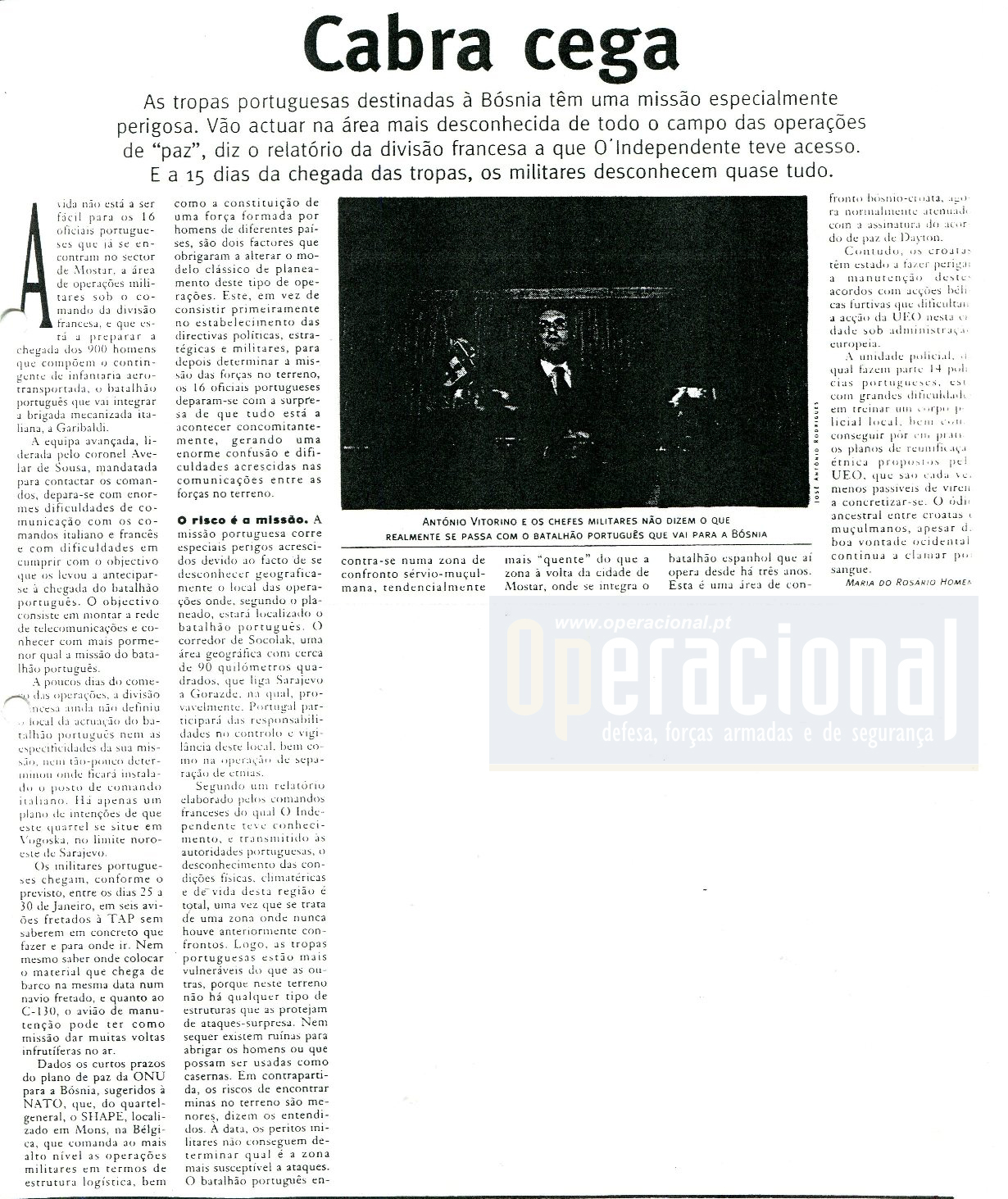 "12JAN96 - ""O Independente"""