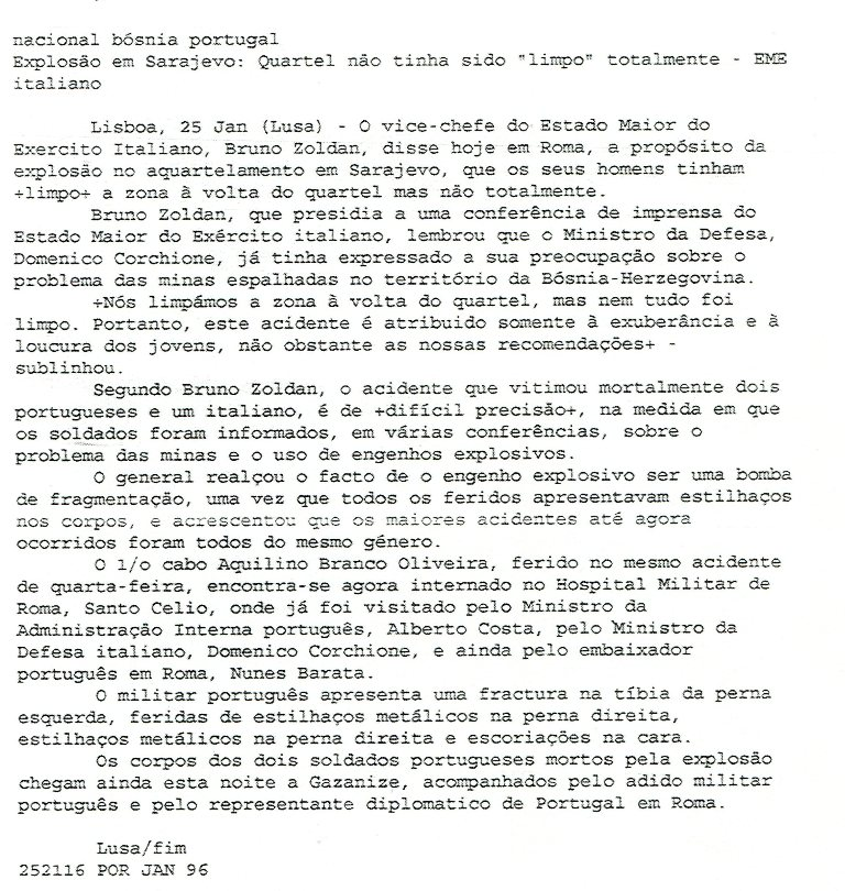 25JAN96 - Agência Lusa