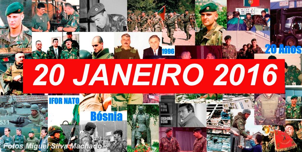 Síntese das comemorações do 20.º aniversário do inicio da Missão das Forças Armadas Portuguesas na Implementation Force (MFAP IFOR/NATO), actualizada a 20JAN2016