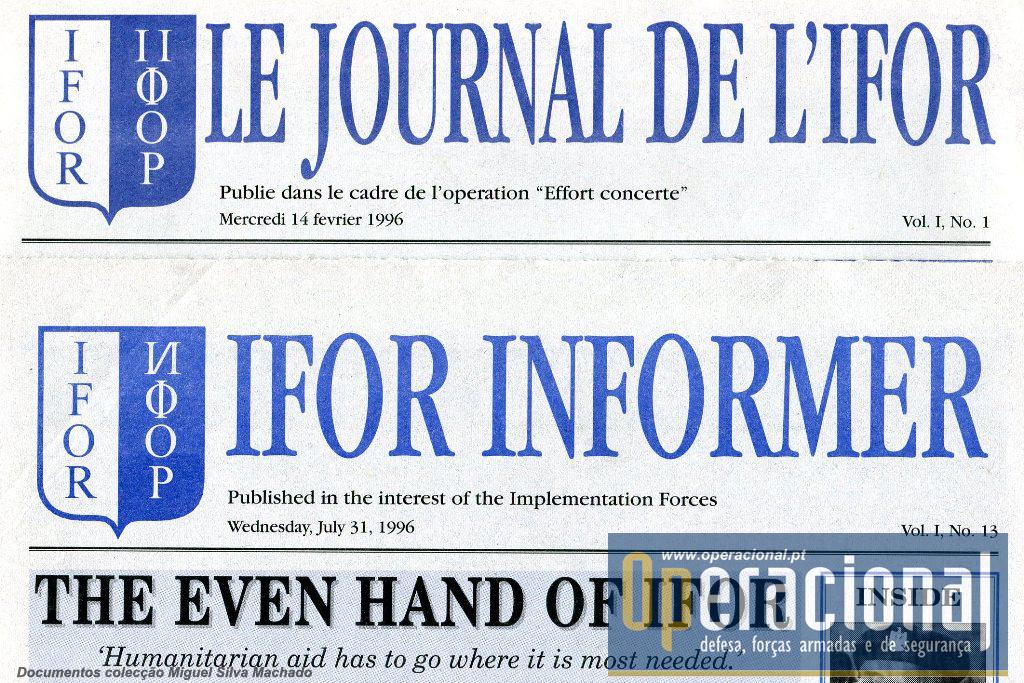 Este artigo abrange todos os números do jornal desde o seu n.º 1 (14FEV96) ao 13.º (31JUL96). Aliatóriamente escolhemos as versões em francês e inglês para publicar.